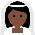 Woman with Veil: Dark Skin Tone on Twitter Twemoji 13.0.2