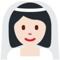 Woman with Veil: Light Skin Tone on Twitter Twemoji 13.0.2