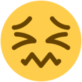 Confounded Face on Twitter Twemoji 13.1