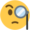 Face with Monocle on Twitter Twemoji 13.1