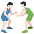 Men Wrestling, Type-1-2 on Twitter Twemoji 2.2.1