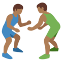 Men Wrestling, Type-5 on Twitter Twemoji 2.2.1