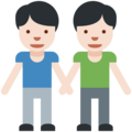 Two Men Holding Hands, Type-1-2 on Twitter Twemoji 2.2.1