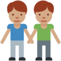 Men Holding Hands: Medium Skin Tone on Twitter Twemoji 2.2.1