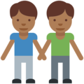 Men Holding Hands: Medium-Dark Skin Tone on Twitter Twemoji 2.2.1