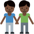 Men Holding Hands: Dark Skin Tone on Twitter Twemoji 2.2.1