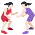 Women Wrestling, Type-1-2 on Twitter Twemoji 2.2.1