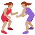 Women Wrestling, Type-4 on Twitter Twemoji 2.2.1