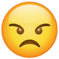 Angry Face on WhatsApp 2.19.244
