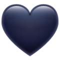 Black Heart on WhatsApp 2.19.244