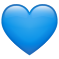 Blue Heart on WhatsApp 2.19.244