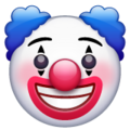 Clown Face on WhatsApp 2.19.244