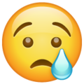 Crying Face on WhatsApp 2.19.244