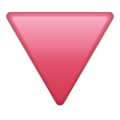 Red Triangle Pointed Down on WhatsApp 2.19.244