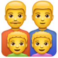 Family: Man, Man, Boy, Boy on WhatsApp 2.19.244