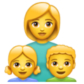 Family: Woman, Girl, Boy on WhatsApp 2.19.244