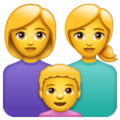 Family: Woman, Woman, Boy on WhatsApp 2.19.244