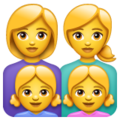 Family: Woman, Woman, Girl, Girl on WhatsApp 2.19.244