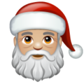 Santa Claus: Medium-Light Skin Tone on WhatsApp 2.19.244