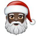 Santa Claus: Dark Skin Tone on WhatsApp 2.19.244