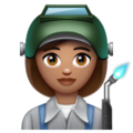 Woman Factory Worker: Medium Skin Tone on WhatsApp 2.19.244