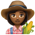 Woman Farmer: Medium-Dark Skin Tone on WhatsApp 2.19.244
