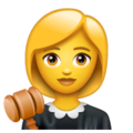 Woman Judge on WhatsApp 2.19.244