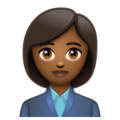 Woman Office Worker: Medium-Dark Skin Tone on WhatsApp 2.19.244