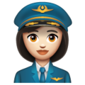 Woman Pilot: Light Skin Tone on WhatsApp 2.19.244