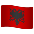Flag: Albania on WhatsApp 2.19.244