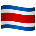 Flag: Costa Rica on WhatsApp 2.19.244
