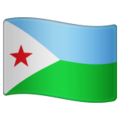 Flag: Djibouti on WhatsApp 2.19.244