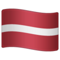 Flag: Latvia on WhatsApp 2.19.244