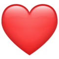 Red Heart on WhatsApp 2.19.244