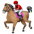 Horse Racing: Medium Skin Tone on WhatsApp 2.19.244