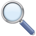 Magnifying Glass Tilted Left on WhatsApp 2.19.244