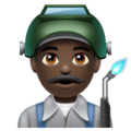 Man Factory Worker: Dark Skin Tone on WhatsApp 2.19.244