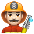 Man Firefighter: Light Skin Tone on WhatsApp 2.19.244