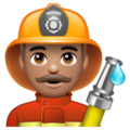 Man Firefighter: Medium Skin Tone on WhatsApp 2.19.244