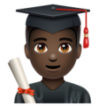 Man Student: Dark Skin Tone on WhatsApp 2.19.244