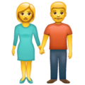 Woman and Man Holding Hands on WhatsApp 2.19.244