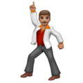Man Dancing: Medium Skin Tone on WhatsApp 2.19.244