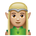 Man Elf: Medium-Light Skin Tone on WhatsApp 2.19.244