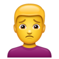Man Frowning on WhatsApp 2.19.244