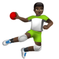 Man Playing Handball: Dark Skin Tone on WhatsApp 2.19.244