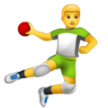 Man Playing Handball on WhatsApp 2.19.244