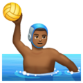 Man Playing Water Polo: Medium-Dark Skin Tone on WhatsApp 2.19.244