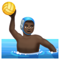 Man Playing Water Polo: Dark Skin Tone on WhatsApp 2.19.244