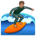 Man Surfing: Medium Skin Tone on WhatsApp 2.19.244