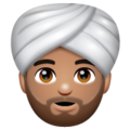 Man Wearing Turban: Medium Skin Tone on WhatsApp 2.19.244